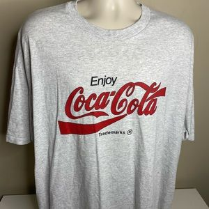 Vintage enjoy coca-cola t shirt men's size XXL